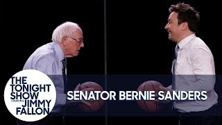 Jimmy Shoots Free-Throws with Senator Bernie Sanders