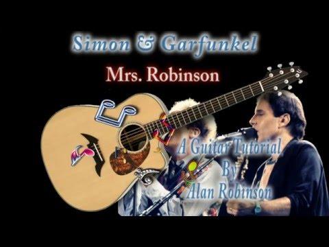 Mrs Robinson Simon Garfunkel Acoustic Guitar Lesson Easy Chords