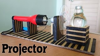 How to Make a Projector using bulb at Home