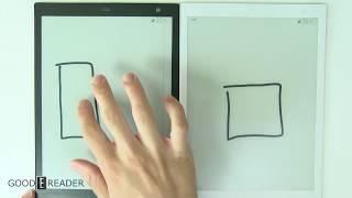 Sony DPT CP1 Digital Paper Vs Fujitsu Quaderno A5 Comparison