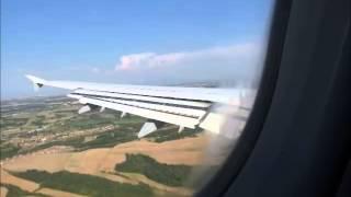 preview picture of video 'Von Frankfurt (FRA) nach Rom (FCO) - Flug über den Gotthard und Landung'