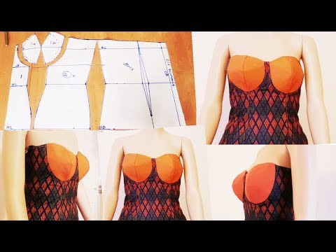 How to make Corset top |Strapless|Bustier|Tube top: Pattern drafting,Cutting and Sewing |Easy method
