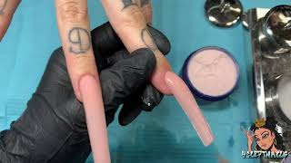 How To Apply Acrylic On Extra Long Nails