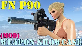 Fallout 4: Weapon Showcases: FN P90 (Mod)