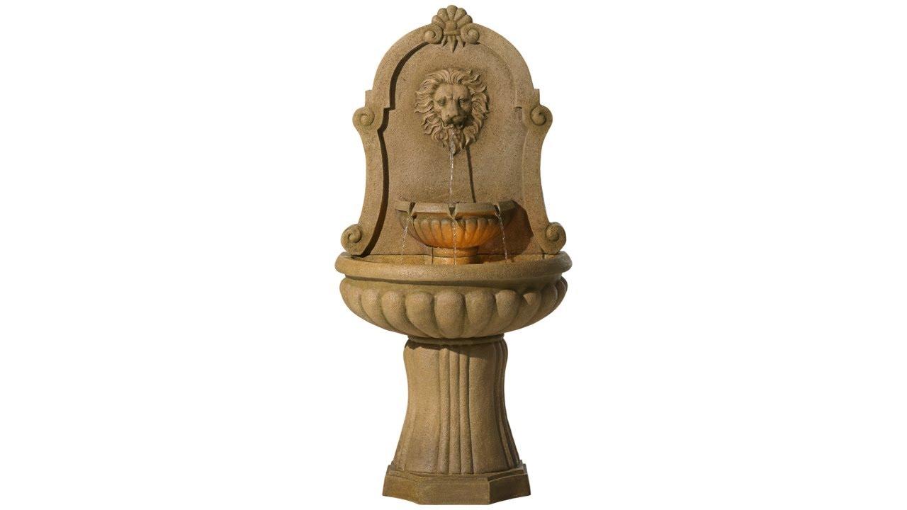 """Savanna Lion 58"""" High Indoor - Outdoor Floor Fountain"""