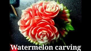 How To Carve Watermelon/beautiful Fruit Carved Into A Flower