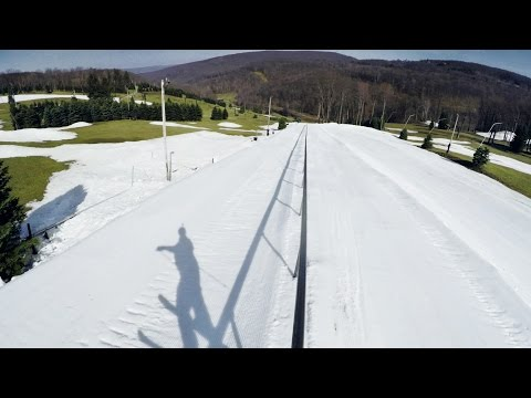 The World's Longest Rail Slide On Skis Feels Like It Goes On Forever