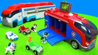 Paw Patrol Spielzeug Kinderfilm: Spielzeugautos, Feuerwehrautos, Müllwagen, Bagger & Polizeiautos
