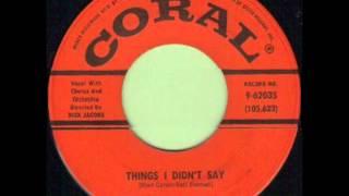 AL ALBERTS - THINGS I DIDN'T SAY - CORAL 9 62035