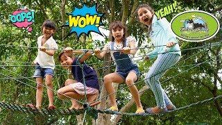 บรีแอนน่า   ฝ่าด่านสนามเด็กเล่นที่ฟาร์มแกะดำ Fun Outdoor Playground Black Sheep Farm Obstacle Course