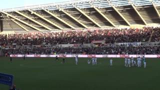 Swansea City Vs Norwich Pre-Match Songs 8th December 2012