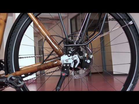 Trekking Fahrrad My Afram Speedhub mit Bambus Rahmen