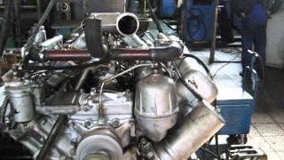 Работа двигателя ЯМЗ-7511 и остановка (фотоаппарат CANON)