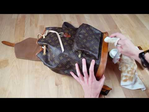 Louis Vuitton Montsouris Rucksack Tasche reinigen | Tutorial | How to