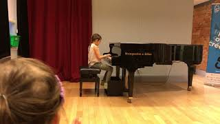 "Parker's Fall Piano Recital, ""Prelude in G Minor"" (her own composition)"