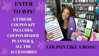 CONTEST CLOSED WINNER ANNOUNCED!~Coupon Binder, Planner & All The Accessories~Coupon Like A Boss😍