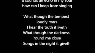 How can I keep from singing- Eva Cassidy-cover lyrics