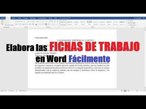 , title : 'CÓMO HACER FICHAS DE TRABAJO EN WORD FÁCILMENTE'