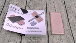 Samsung 10,000mAh Portable Fast Wireless Charger and Battery Pack