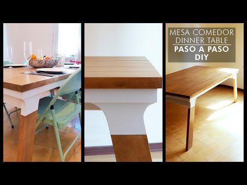 How to build a dinner table - Como hacer mesa de comedor