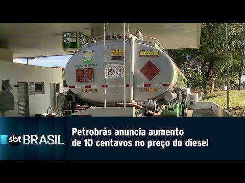 Petrobrás anuncia aumento de 10 centavos no preço do diesel