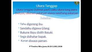 Bahasa Jawa Kelas III Mangerteni Tegese Tembung...