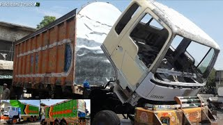 Restoration a accidental Hino cargo Truck with body cabin and Chassis