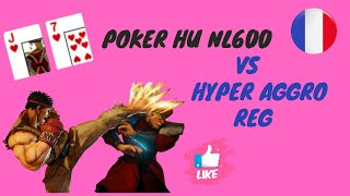 Poker Vidéo Gratuite D'apprentissage Cash Game Heads Up Vs Aggro NL600$ Commentée En Français