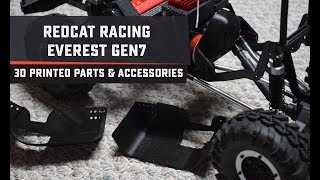 A Selection of 3D Printed Parts for the Redcat Racing Everest GEN7
