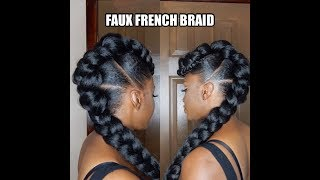 "<center><p>Faux French Braid Updo</p></center>"" />             </div>   </div>   <div class="