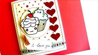 Cupcakes Valentine Card - Tarjeta San Valentin Magdalenas Enamoradas
