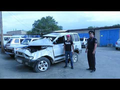 В Акбулаке полицейские нашли угнанный автомобиль в поле