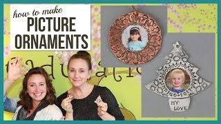 Hand Stamped, Personalized, Picture Christmas Ornaments - From Beaducation Live Episode 24