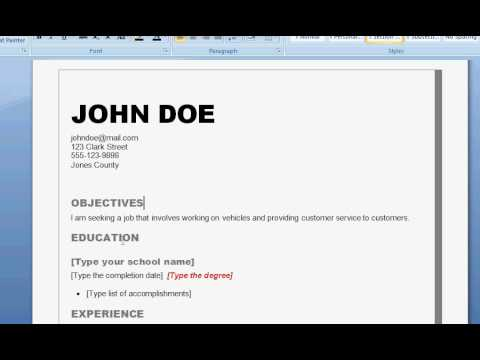 Video How to Write a Good Resume