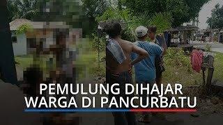 VIDEO VIRAL: Dituduh Mencuri, Pemulung Dihajar Warga di Pancurbatu, Barang Bukti Tak Ditemukan