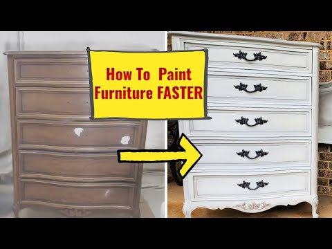 How to Paint Furniture Faster  #diypaintingfurniture #chalkpaint #paintedfurniture
