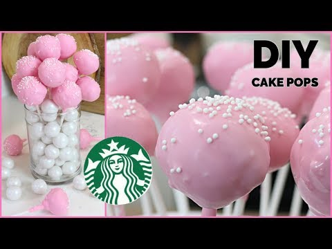How to Make CAKE POPS | DIY Starbucks Homemade COPYCAT Birthday Cake Pops Recipe