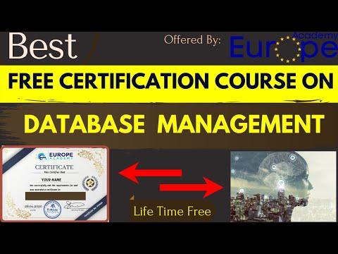 Free Certification Course On Database Management   Database ...