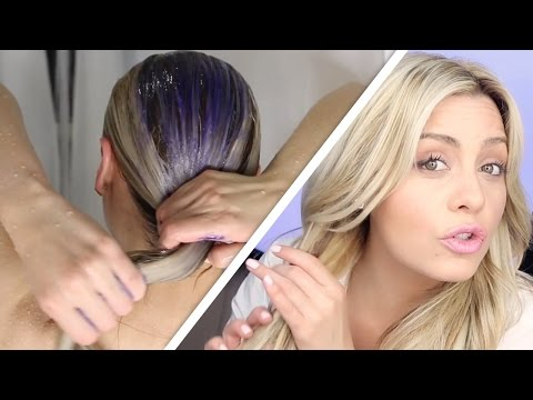 Hairdresser shows how you are actually supposed to wash blonde hair