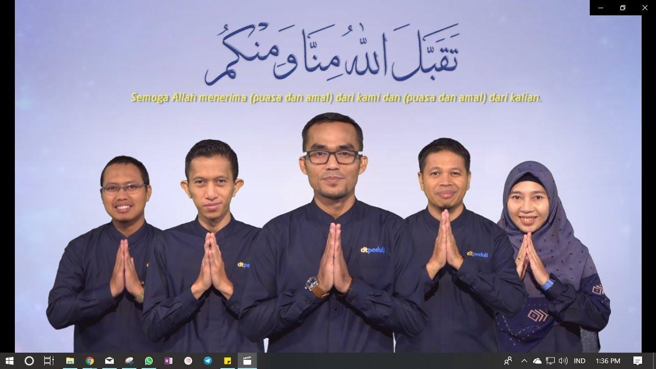 Greeting Idul Fitri 1440 Hijriyah DT Peduli