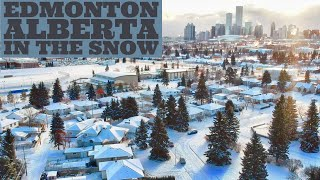 DRONE FLIGHT: Edmonton Alberta in the Snow