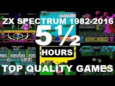 ZX SPECTRUM 1982-2016: 5½ hours with 600+ top quality colorful games!