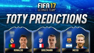 Fifa 17 TOTY Prediction Ft. TOTY Ronaldo, TOTY Messi, TOTY Griezmann & More!