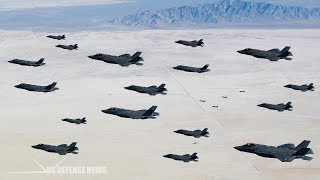 Worst Nightmare for America's Enemies! USAF Conducts Huge F-35A Combat Power