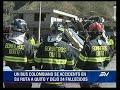 Video: Accidente ocurrido en la madrugada de este martes dejó 24 muertos y 19 heridos. Foto: Twitter @BomberosQuito
