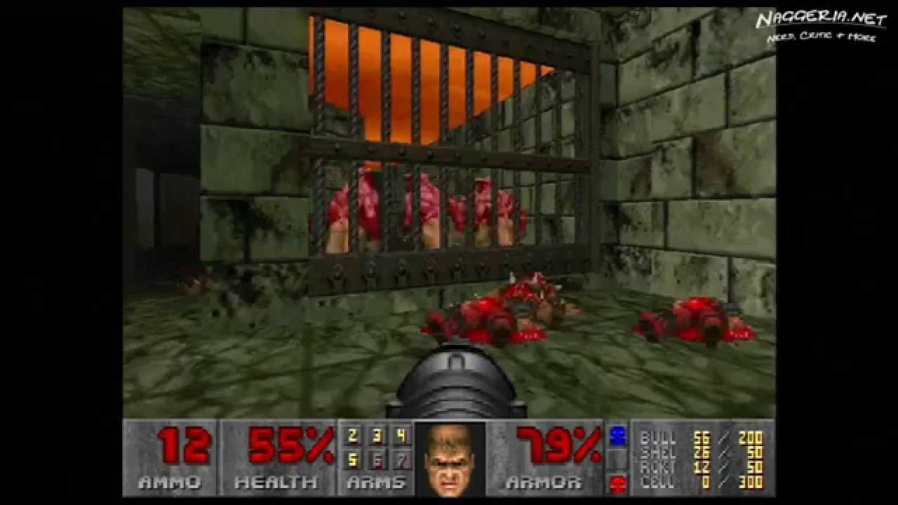 "Doom (E4M1 ""Hell Beneath"") Walkthrough – Ultra-Violence"