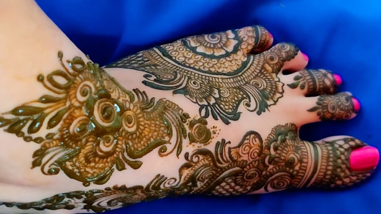 latest feet mehndi design for bridal by aaru mahndi