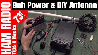 Portable 9ah Battery Power & DIY Field Antenna - Yaesu FT-857D