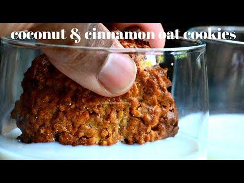 COCONUT & CINNAMON OAT COOKIES   HOW TO MAKE OAT COOKIES   KALUHI'S KITCHEN