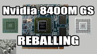 How To Repair Acer Laptop Graphics Card Nvidia 8400M   Reballing